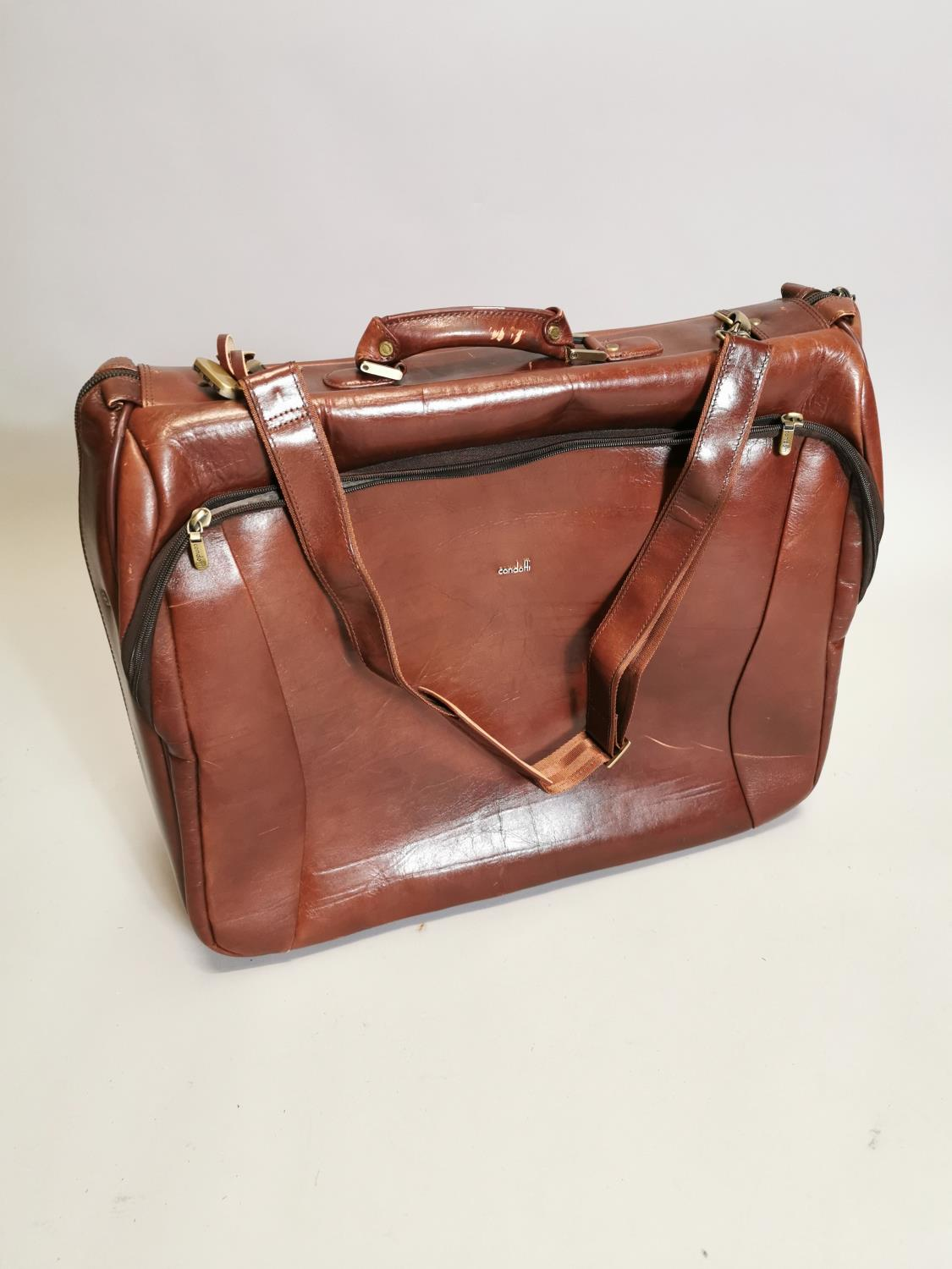 Condoffi gent's leather travel bag - Image 3 of 3