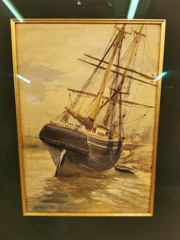 19th C. watercolour Maritime scene - Image 4 of 4