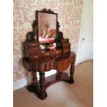 19th. C. mahogany duchess dressing table