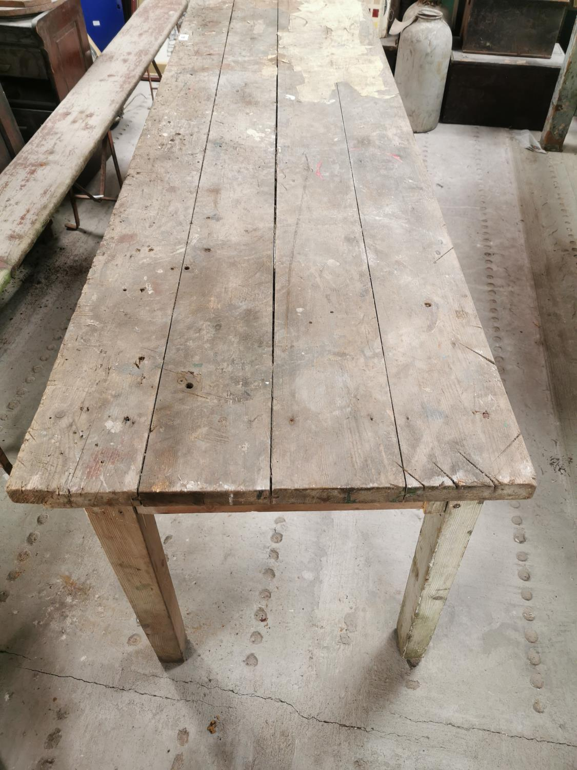 20th. C. pine kitchen table. - Image 3 of 3