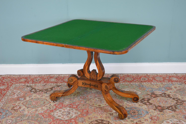 Regency rosewood card table - Image 2 of 4