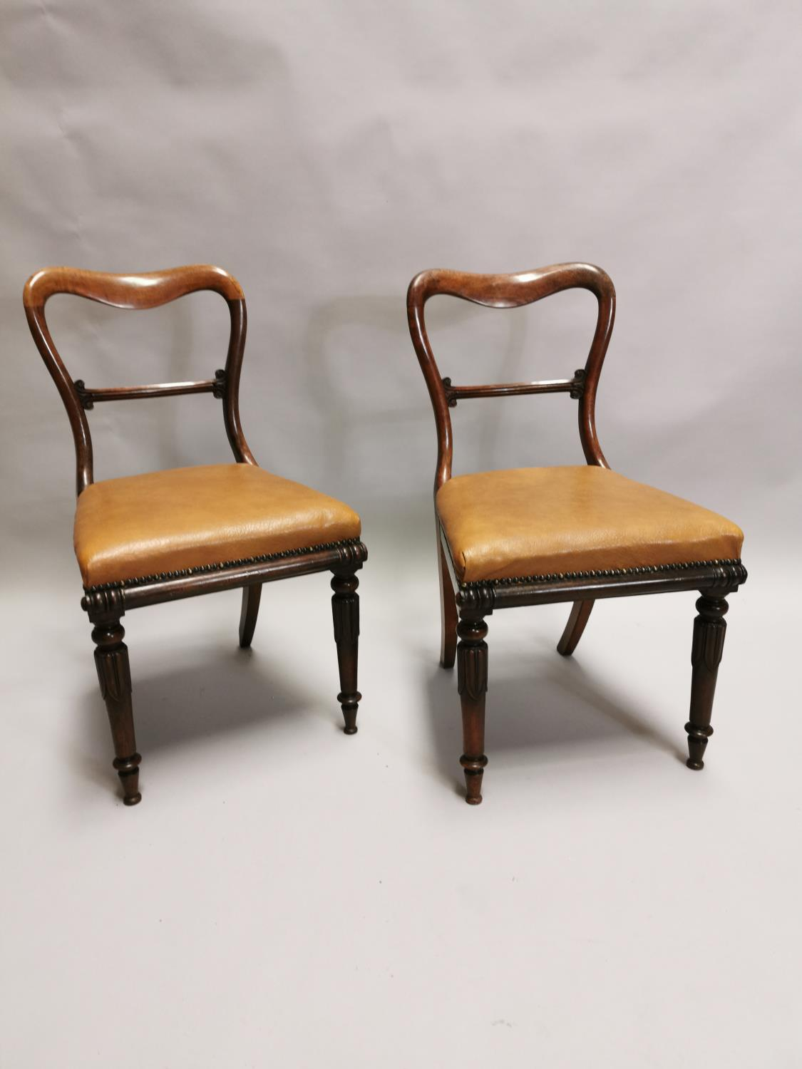 Pair of William IV rosewood side chairs