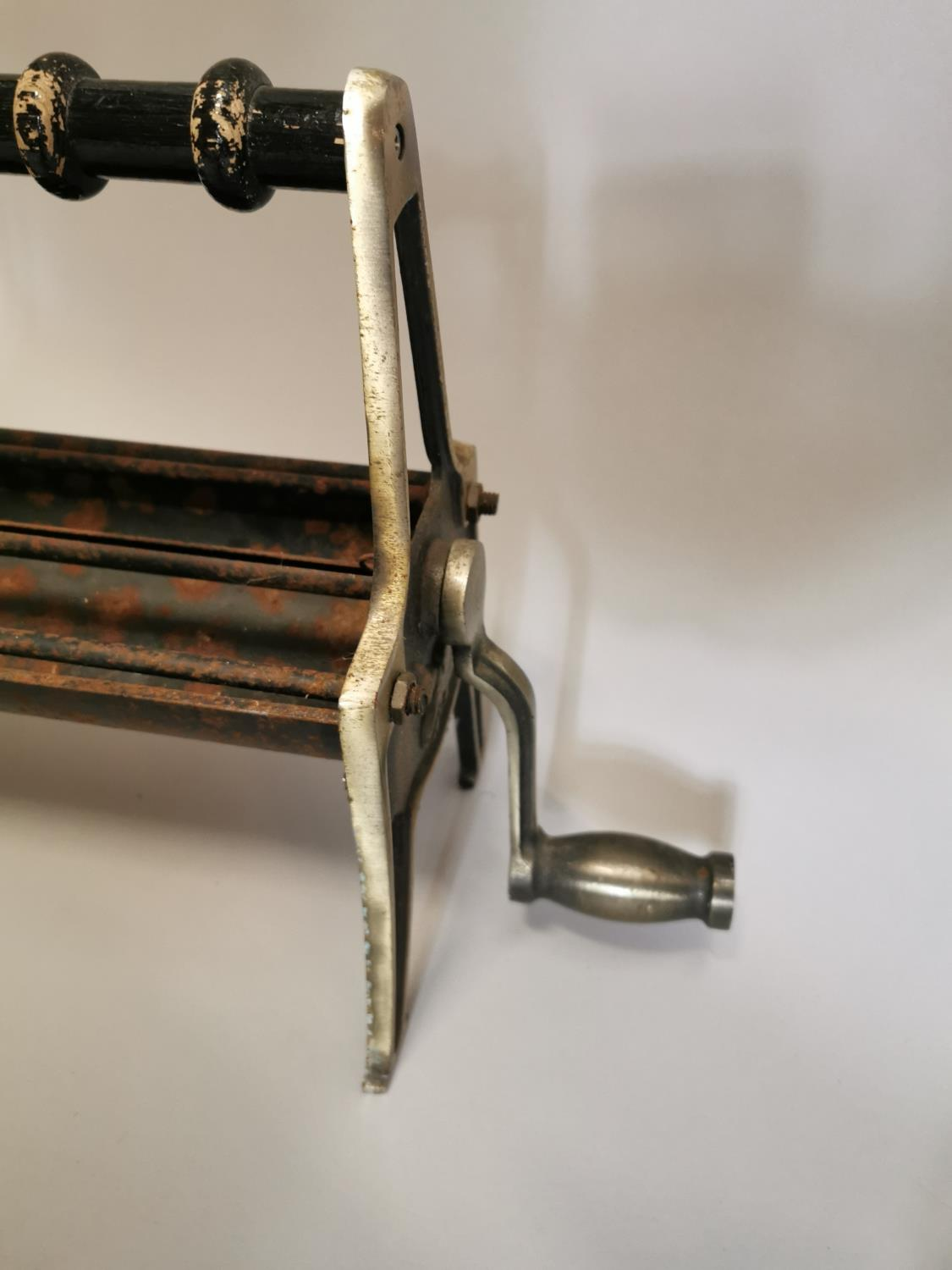 Early 20th. C. brass and metal paper roll holder. - Image 3 of 3