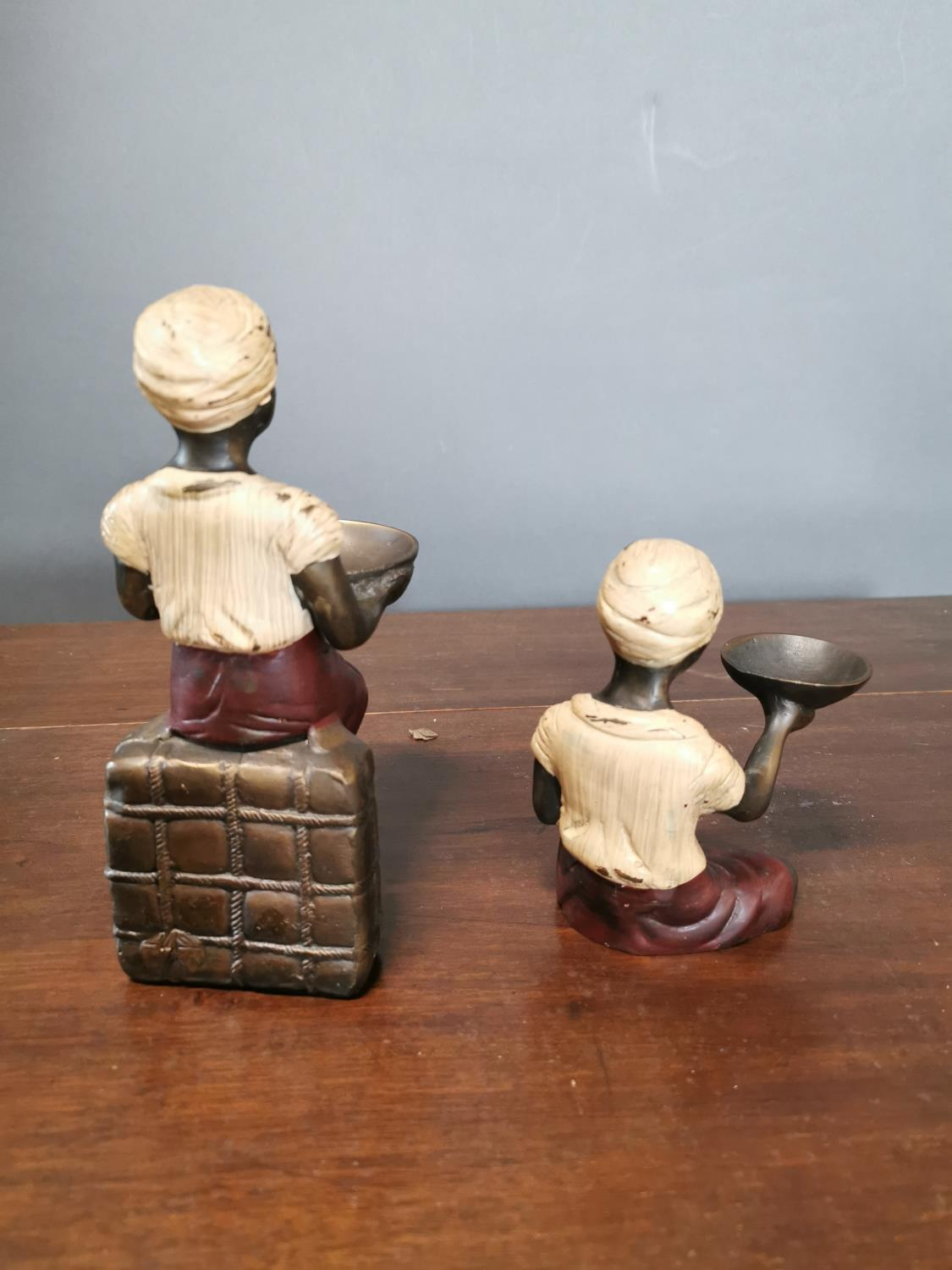 Two bronze candle holders - Image 2 of 2