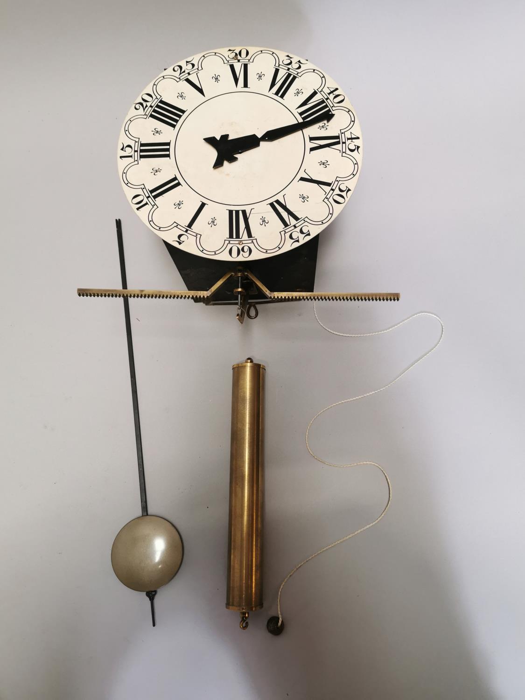 Brass and metal skeleton clock.