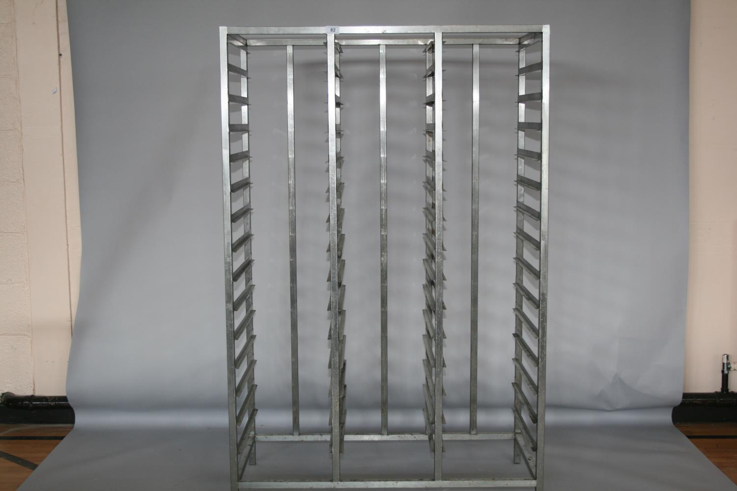 Stainless steel banqueting tray holder 110 W x 170 H x 56 D