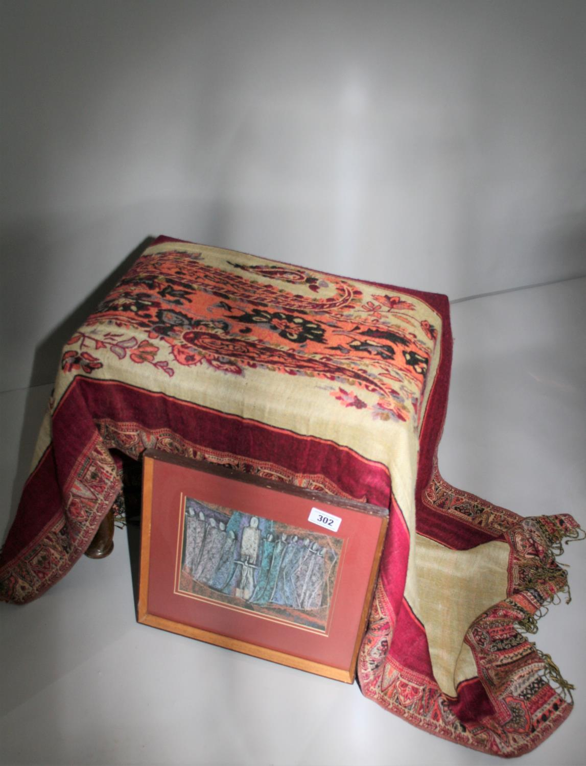 Frances Biggs Communion of Saint and hand woven scarf.