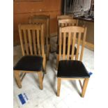 Set of six oak forkback restaurant chairs 46W 105H 45D