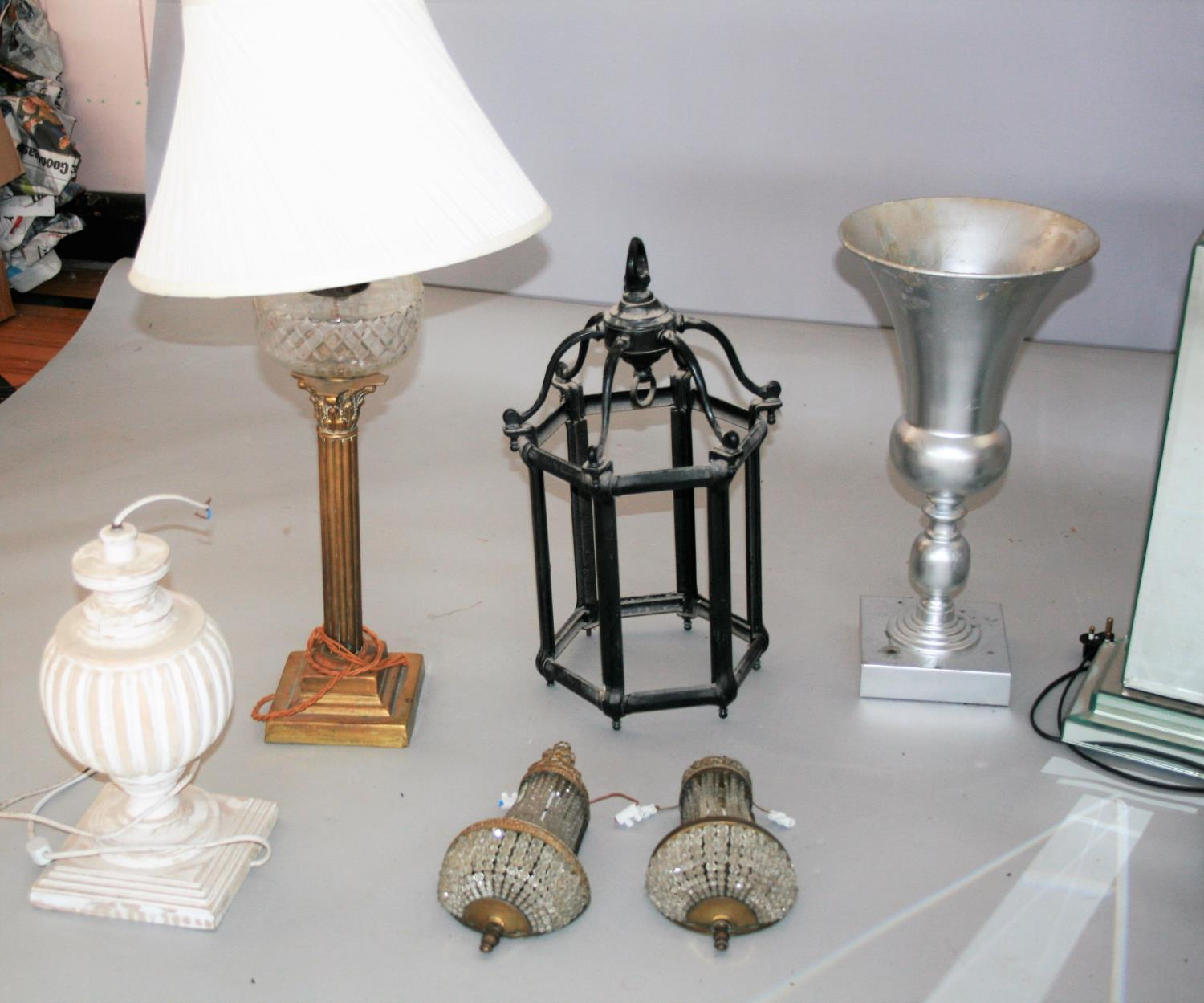 Misc. collection of antique lamps etc. - Image 3 of 5