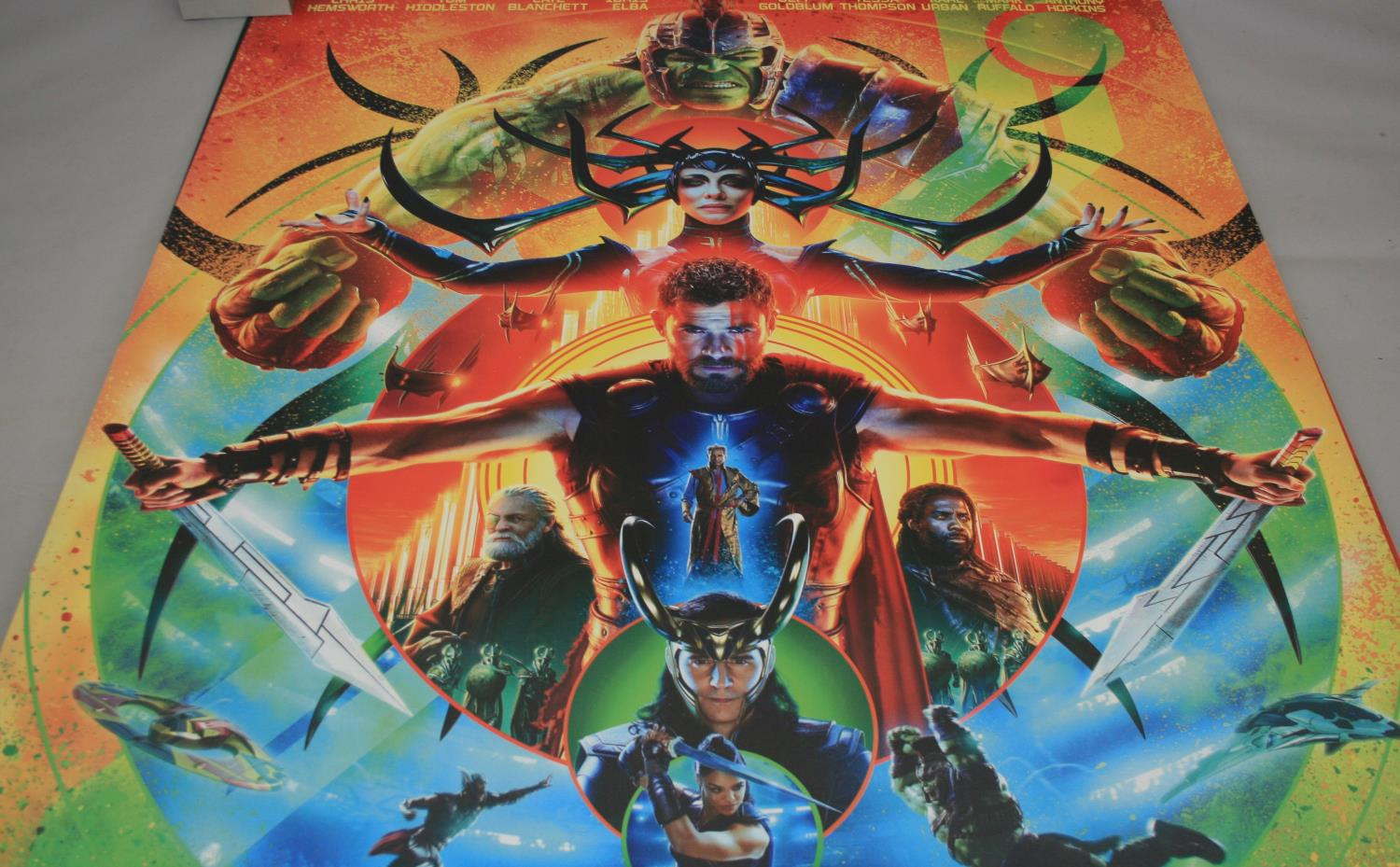 Three large Marvel movies posters (153W x 240H) and selection of small cinema posters - Image 6 of 7