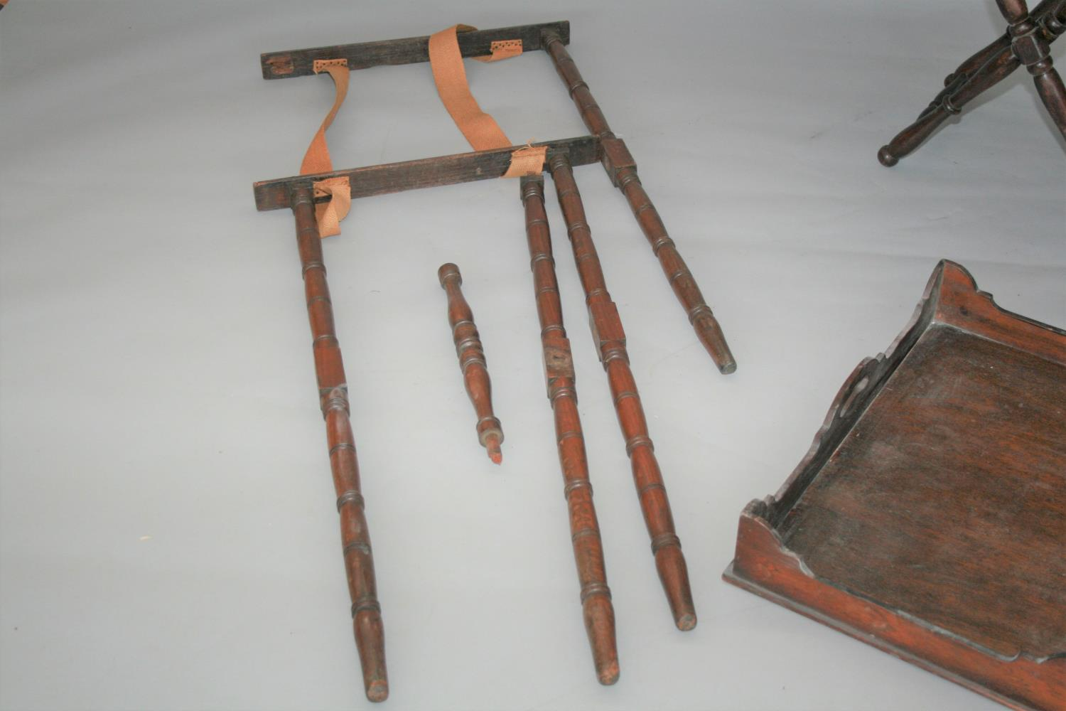 Large collection of 19th Century butler trays and stands. (as seen) - Image 2 of 4