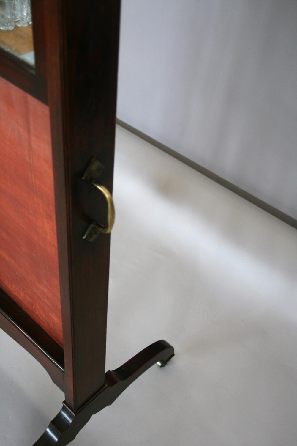 Georgian mahogany robing mirror with rise and fall action with brass carrying handle. Jackson of - Image 2 of 4