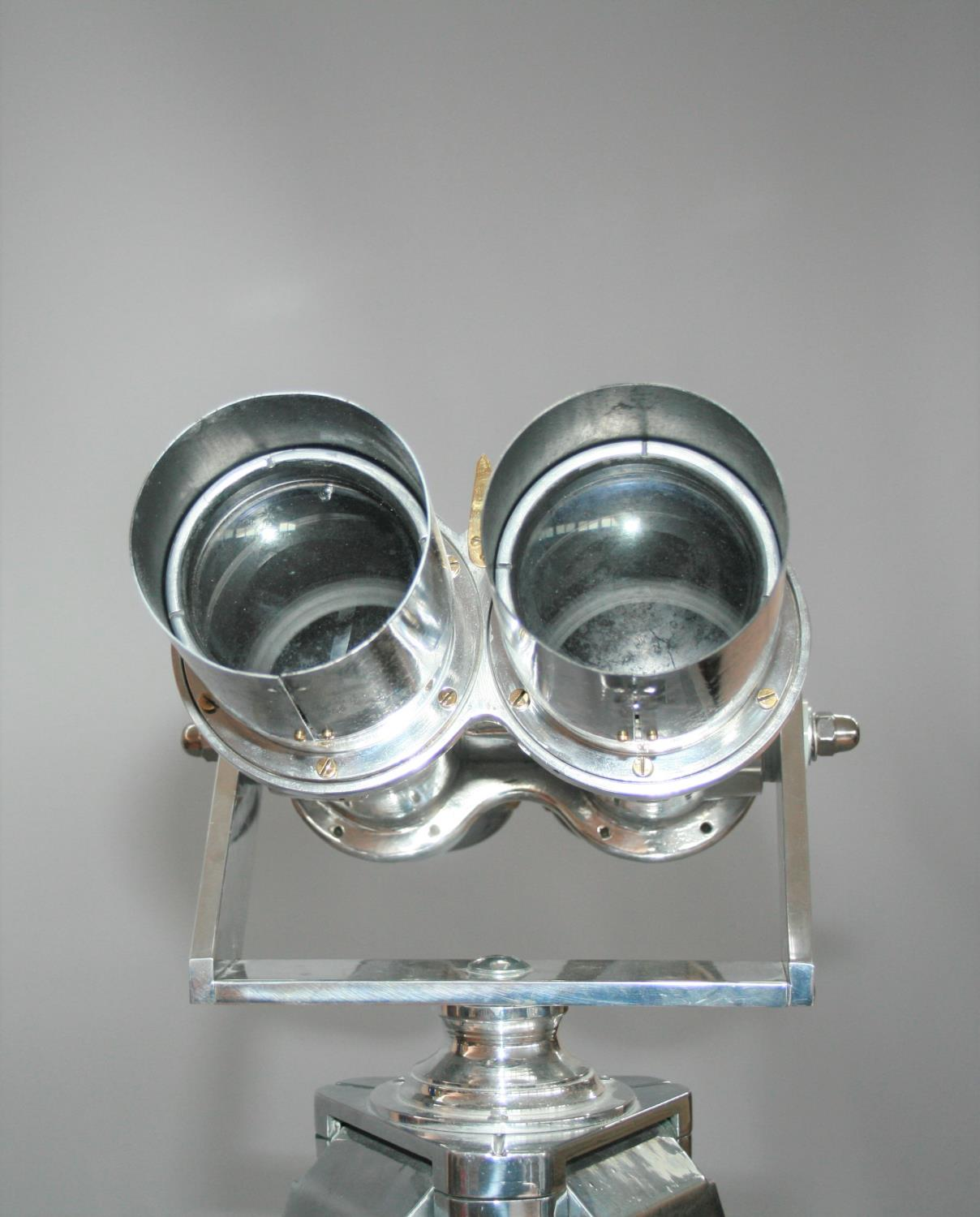 Exceptional pair of 1945 chrome binoculars from WW2 Japanese Aircraft carrier with accompanying - Image 4 of 7