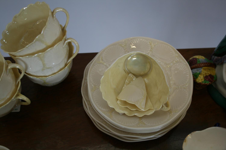 Part Belleek tea set, 2 other part tea sets, Royal Doulton balloon seller. - Image 2 of 4