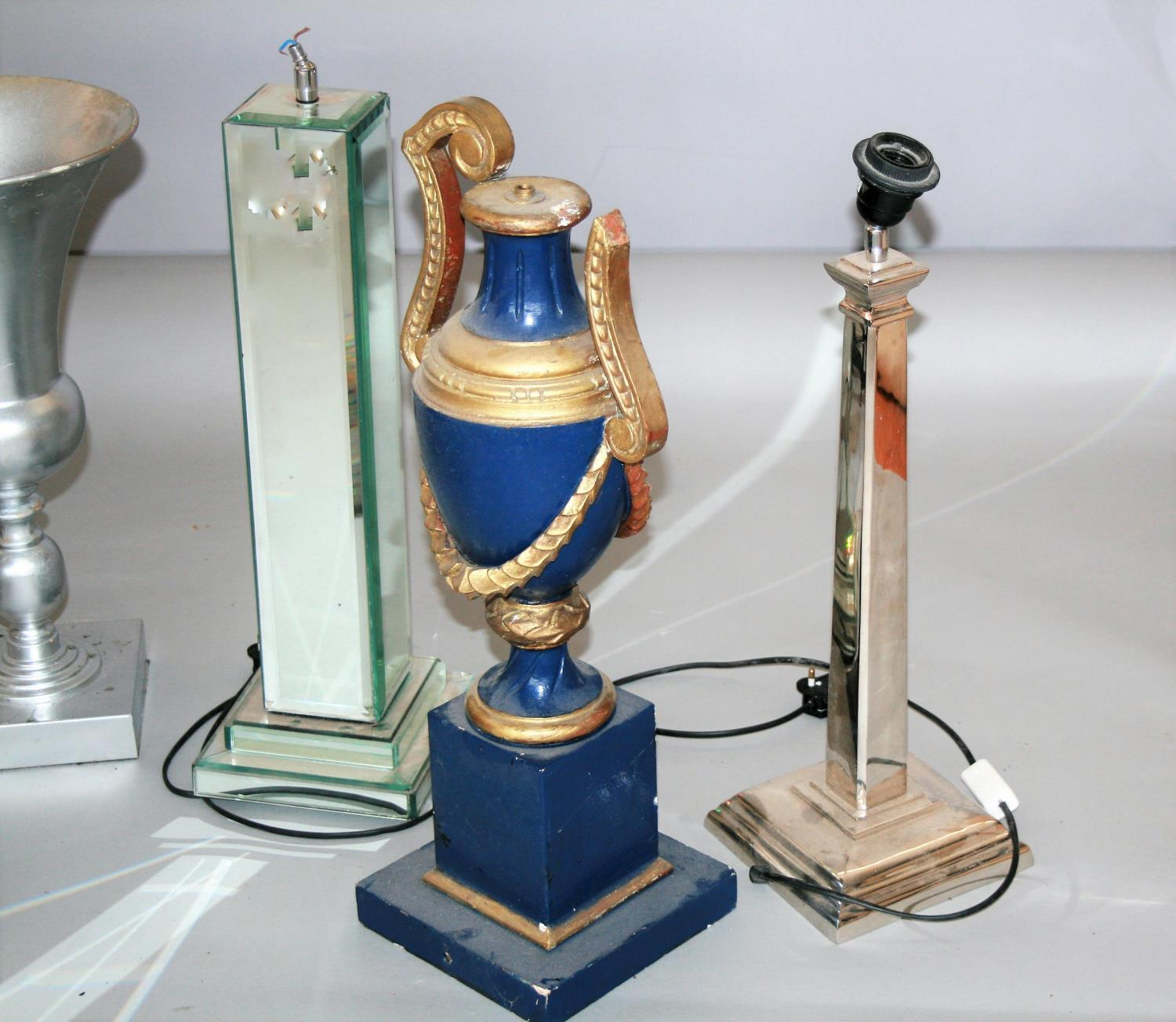 Misc. collection of antique lamps etc. - Image 2 of 5
