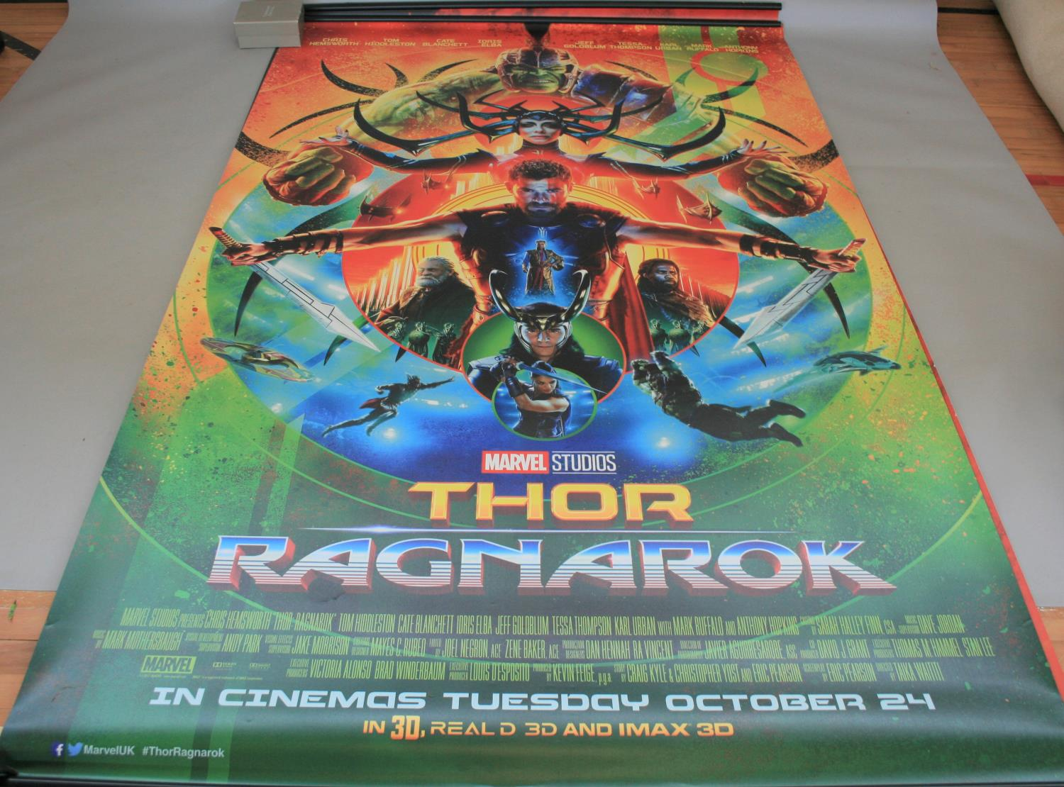 Three large Marvel movies posters (153W x 240H) and selection of small cinema posters - Image 5 of 7