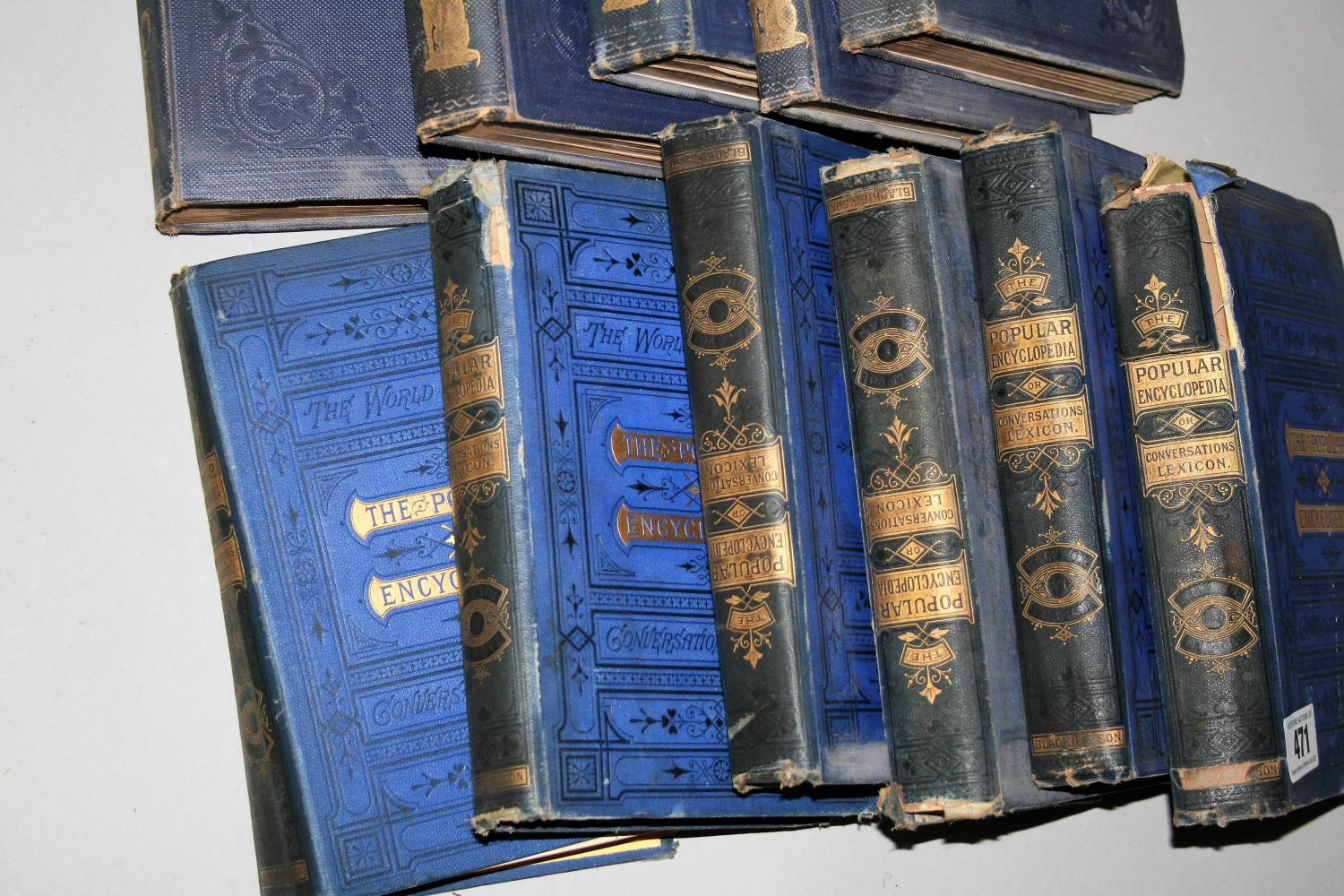 """Six volumes of """"The Popular Encyclopaedia"""" and five books """"Punch"""" 1841, 1842, 1843, 1845, 1846. - Image 2 of 4"""