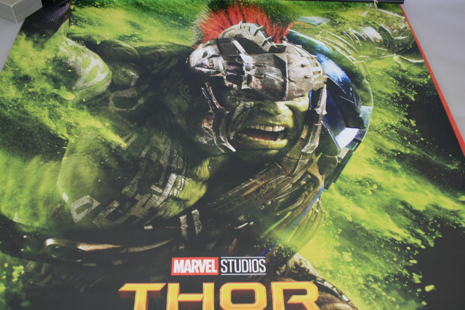 Three large Marvel movies posters (153W x 240H) and selection of small cinema posters - Image 4 of 7