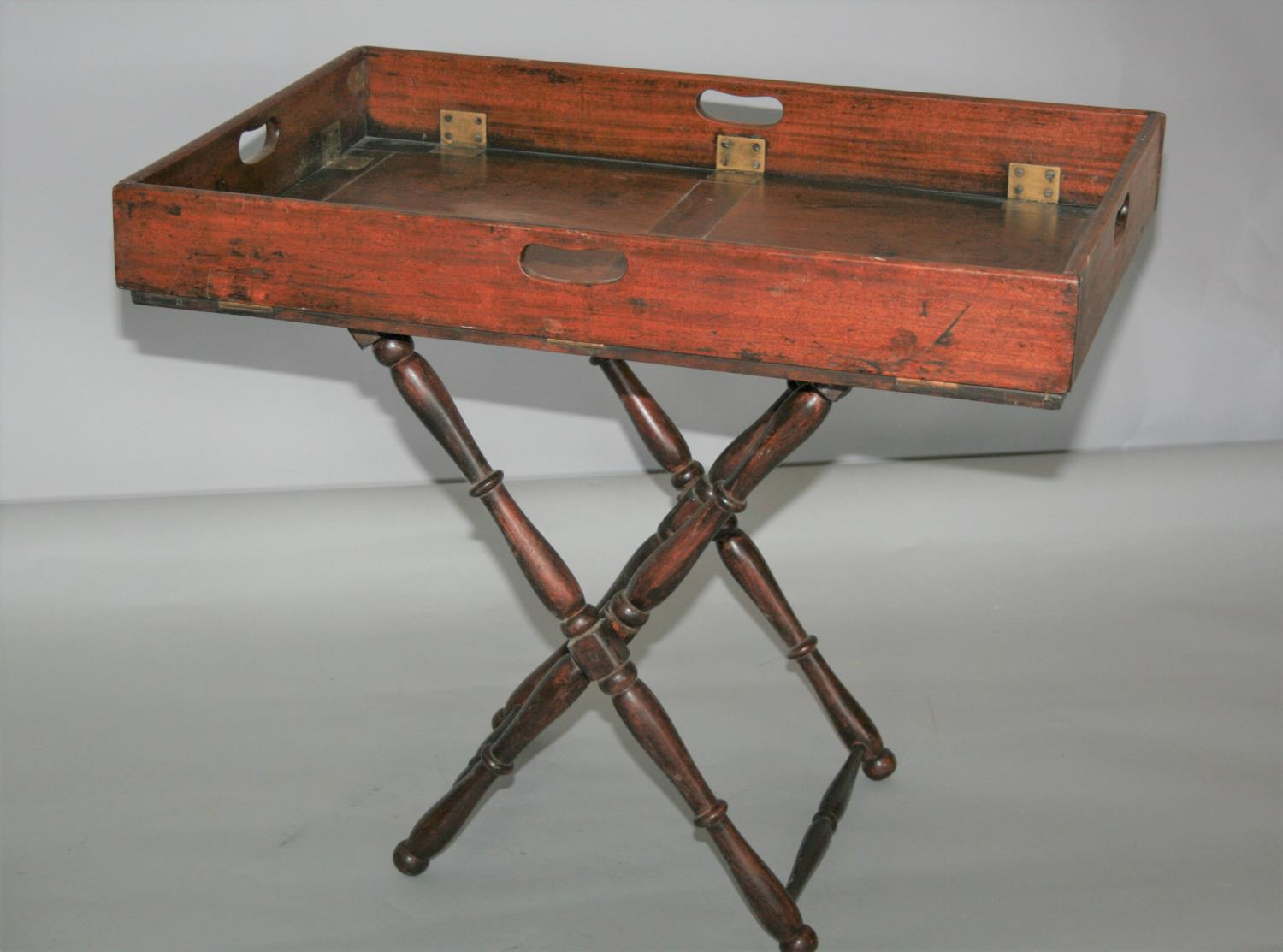 Large collection of 19th Century butler trays and stands. (as seen) - Image 3 of 4