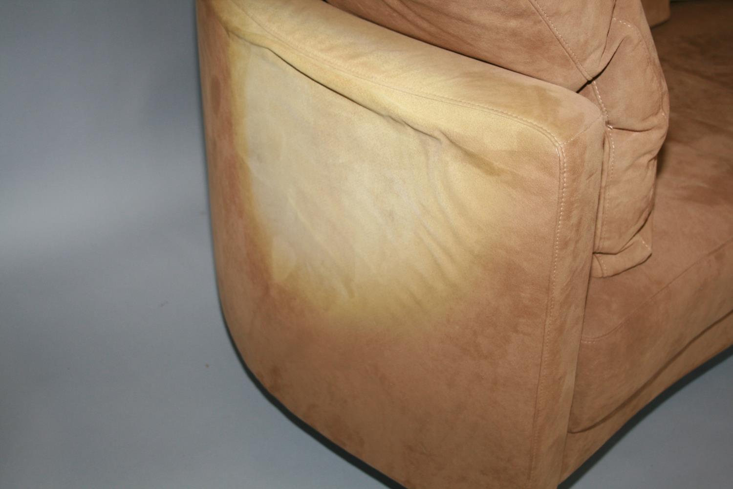 Rolf Benz suede covered sofa with some fading 190 W x 70 H x 80 D - Image 2 of 2