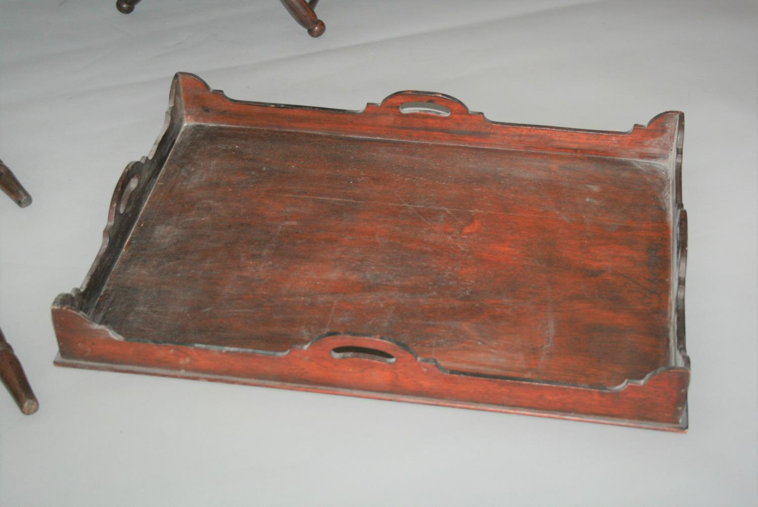 Large collection of 19th Century butler trays and stands. (as seen) - Image 4 of 4