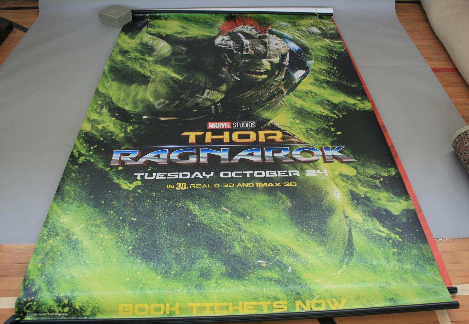 Three large Marvel movies posters (153W x 240H) and selection of small cinema posters - Image 3 of 7