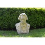 Stone bust of Beethoven .45W 46H