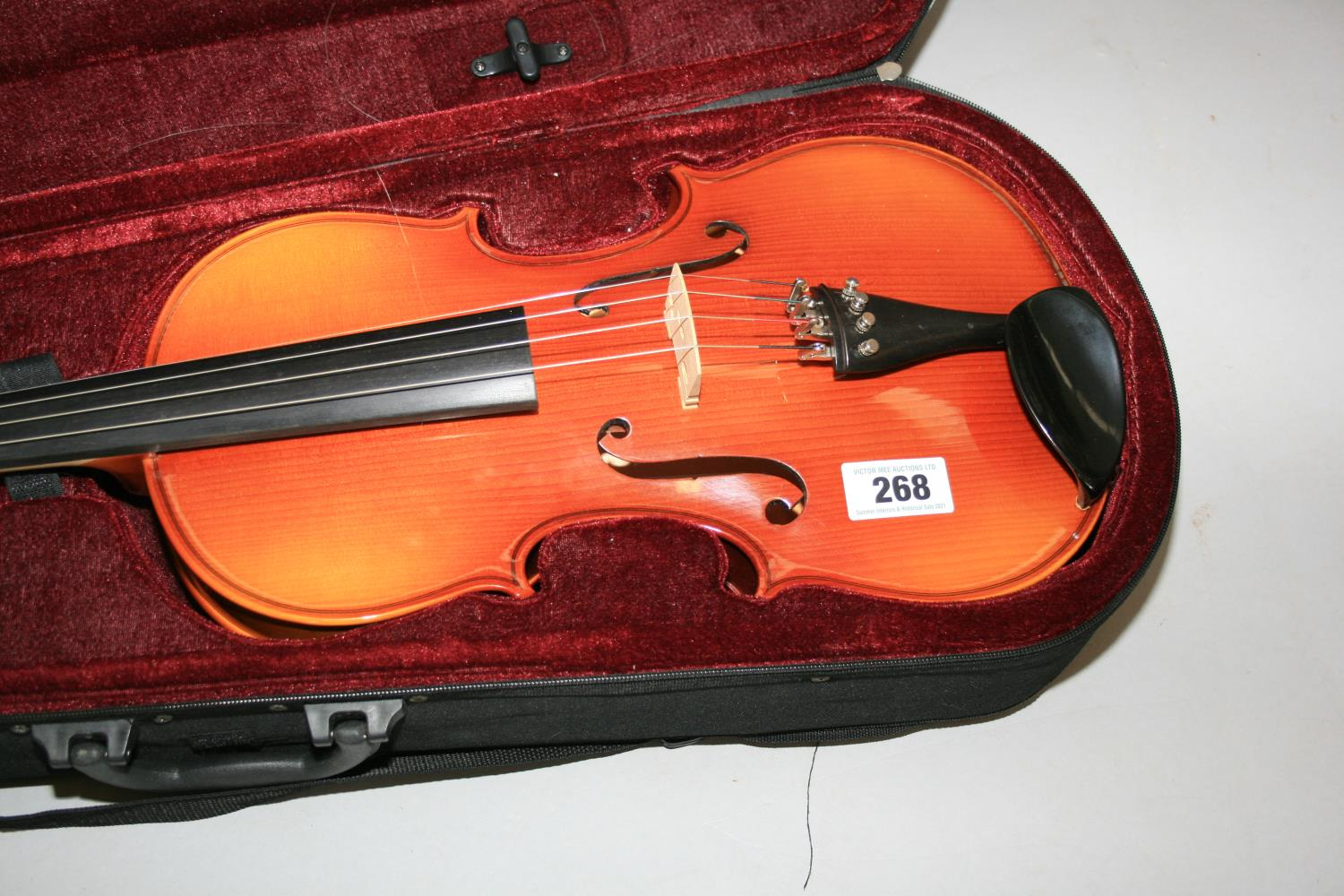 Quality cased violin Teller of Germany. 25W x 70 H. - Image 2 of 3