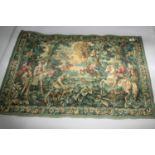 Tapestry depicting medieval scene 110W x 85H