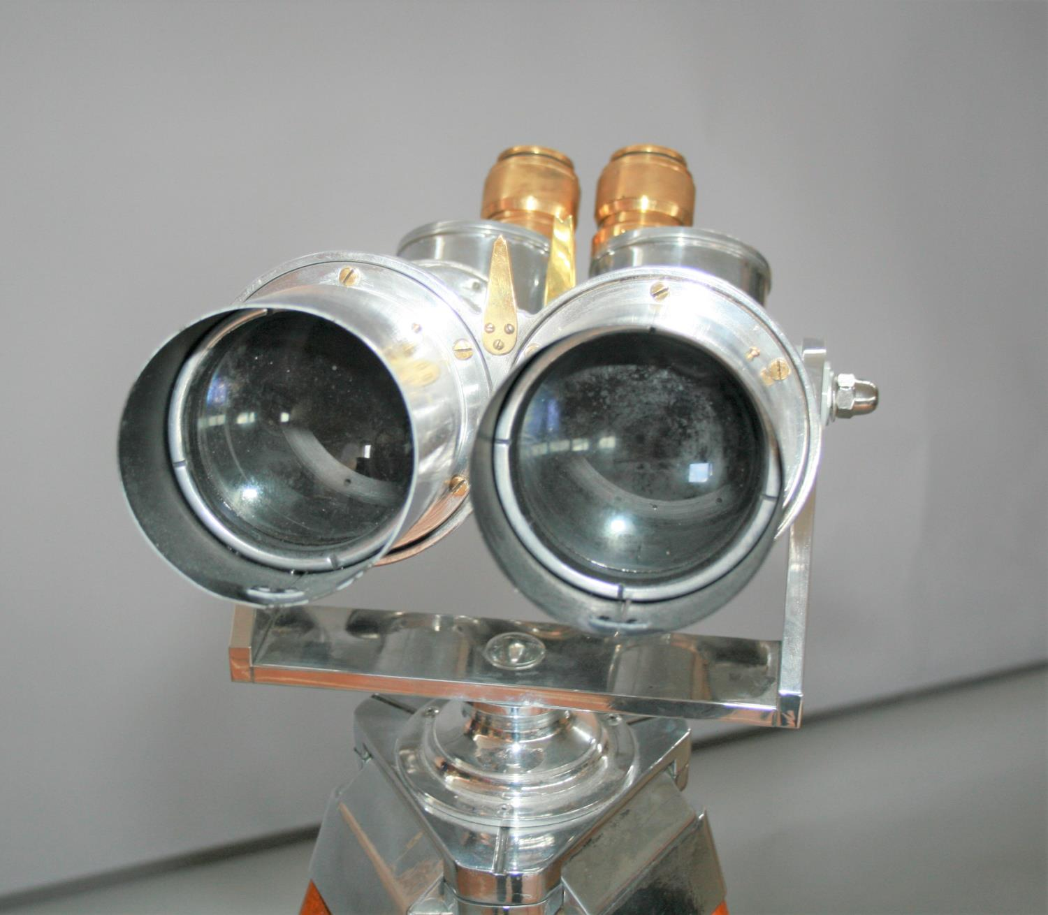 Exceptional pair of 1945 chrome binoculars from WW2 Japanese Aircraft carrier with accompanying - Image 5 of 7