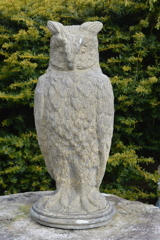 Stone model of an owl 30W 70H