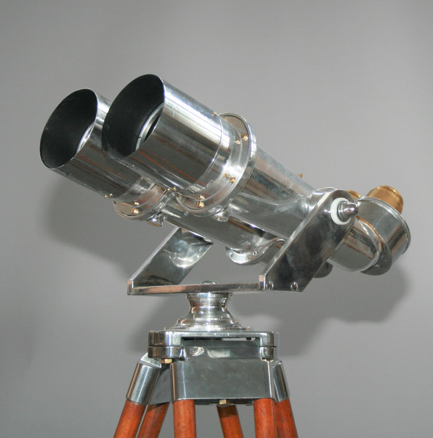 Exceptional pair of 1945 chrome binoculars from WW2 Japanese Aircraft carrier with accompanying - Image 2 of 7