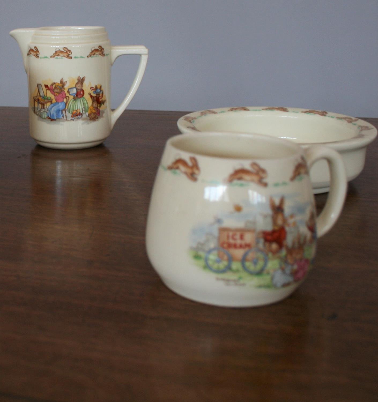 Royal Doulton part tea set, Bunnykins by Barbara Varvra - Image 2 of 3