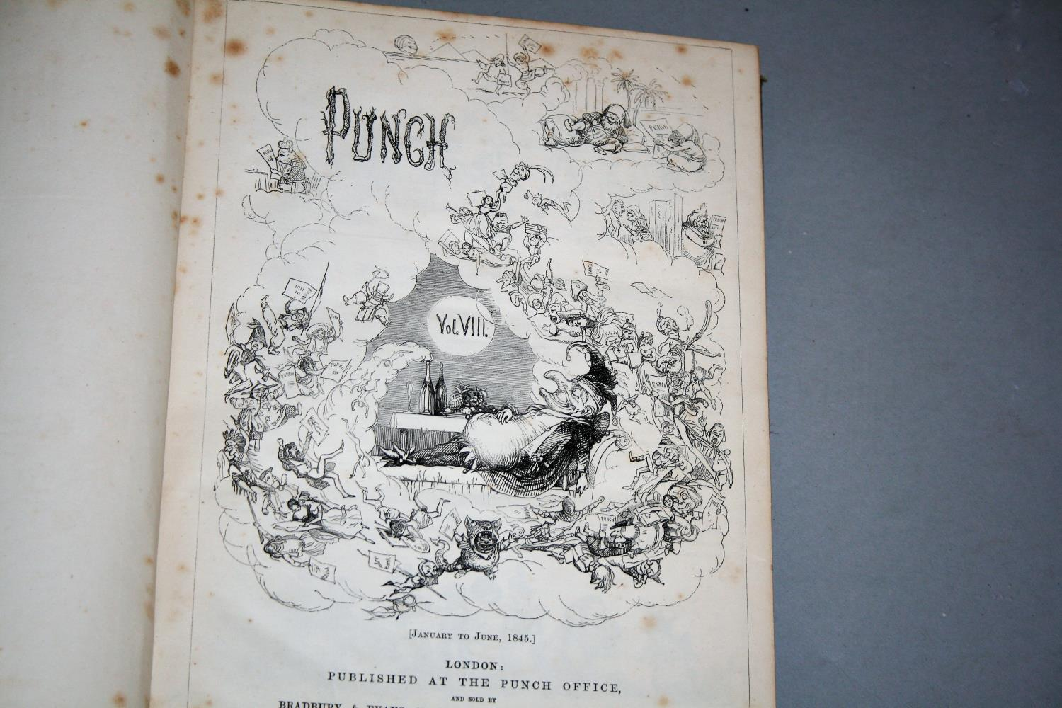 """Six volumes of """"The Popular Encyclopaedia"""" and five books """"Punch"""" 1841, 1842, 1843, 1845, 1846. - Image 4 of 4"""