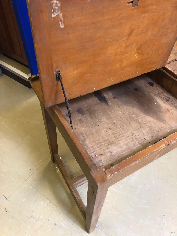 Fine Vintage lift top double desk 214W 60 H 80 D - Image 4 of 4
