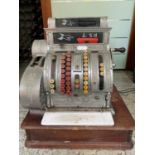 Very unusual vintage chrome cash register.