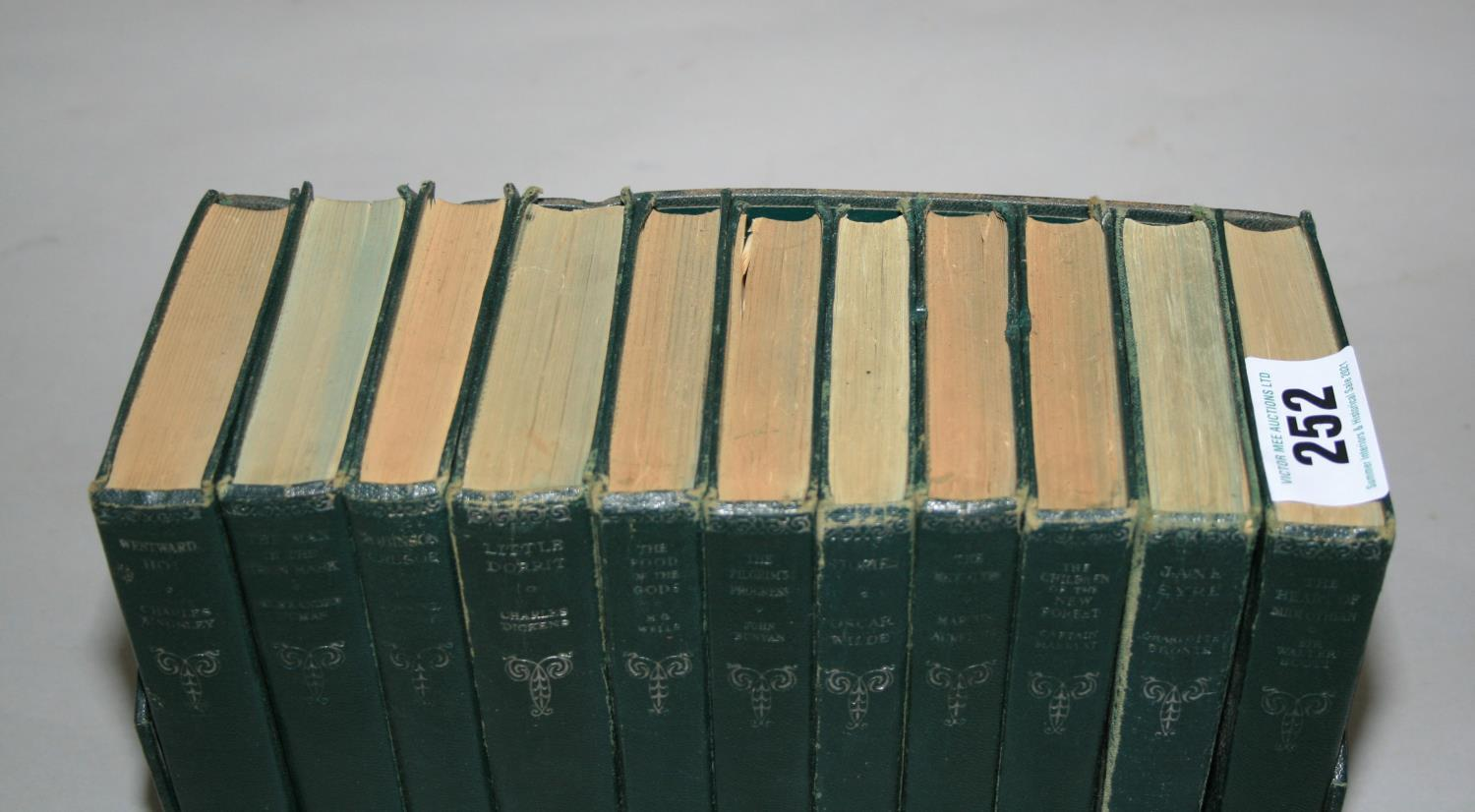 Set of bound volumes of classical novels, incl. Charles Dickens, Oscar Wilde. - Image 2 of 2