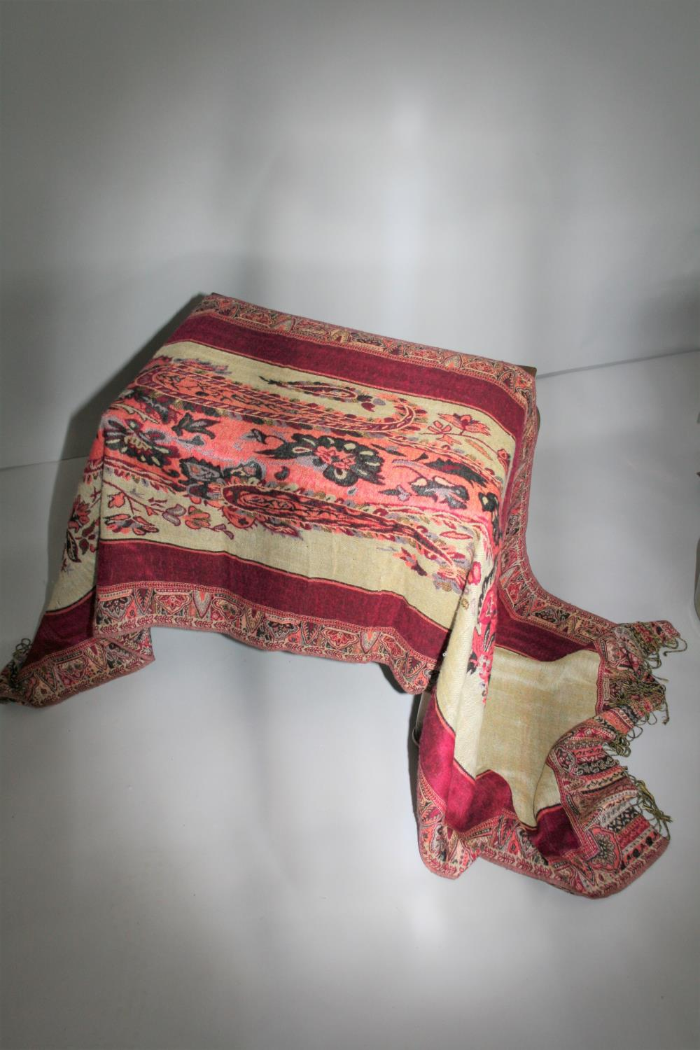 Frances Biggs Communion of Saint and hand woven scarf. - Image 2 of 3