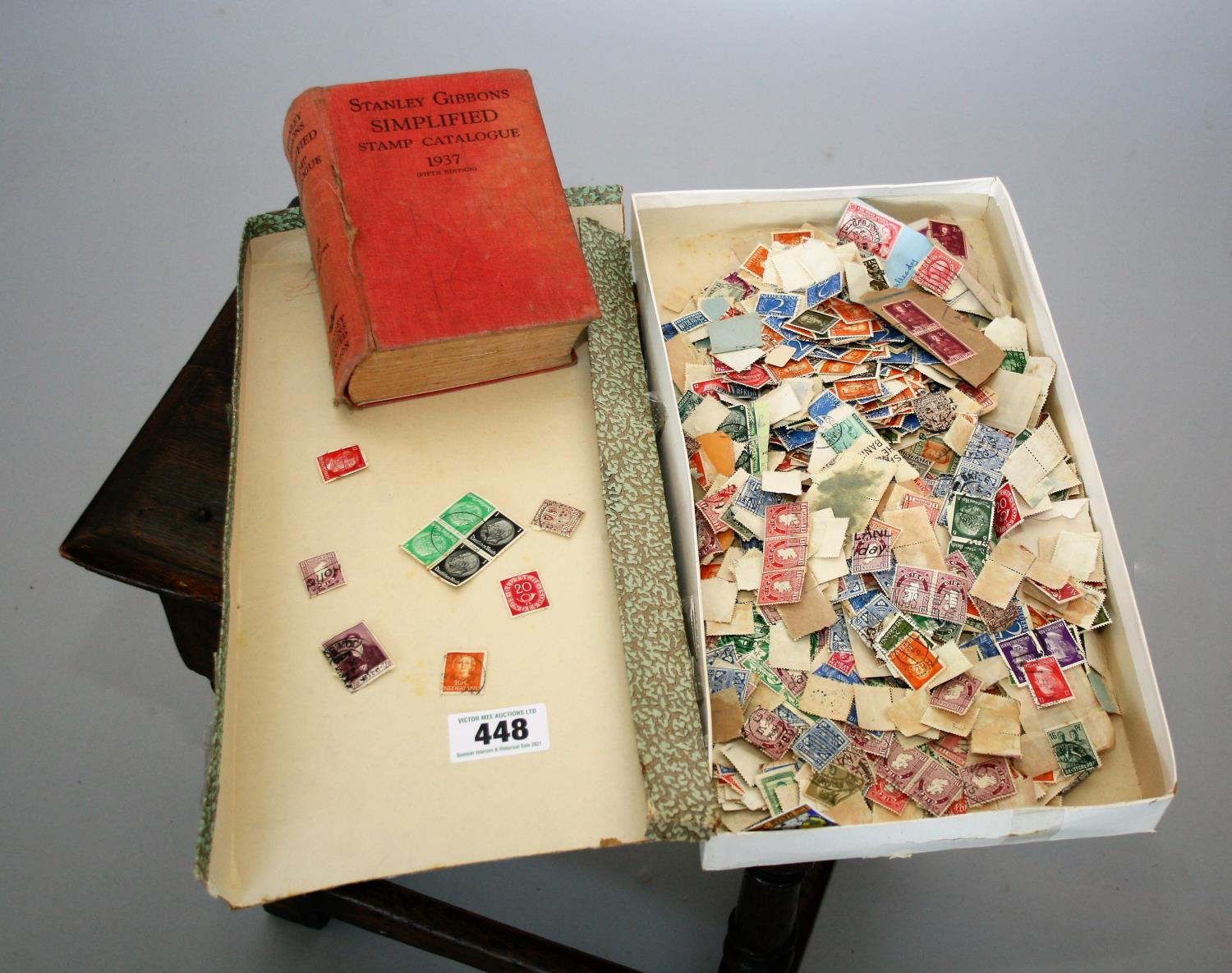 Collection of various stamps and stamp book