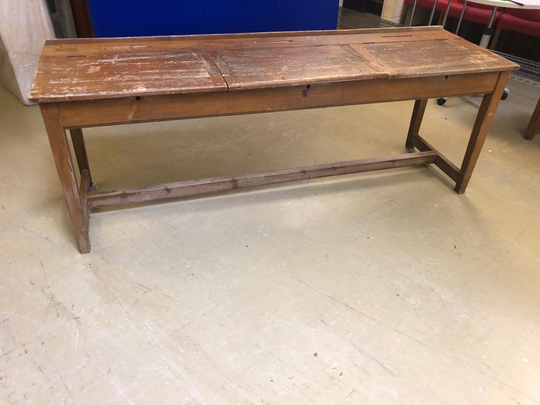 Fine Vintage lift top double desk 214W 60 H 80 D