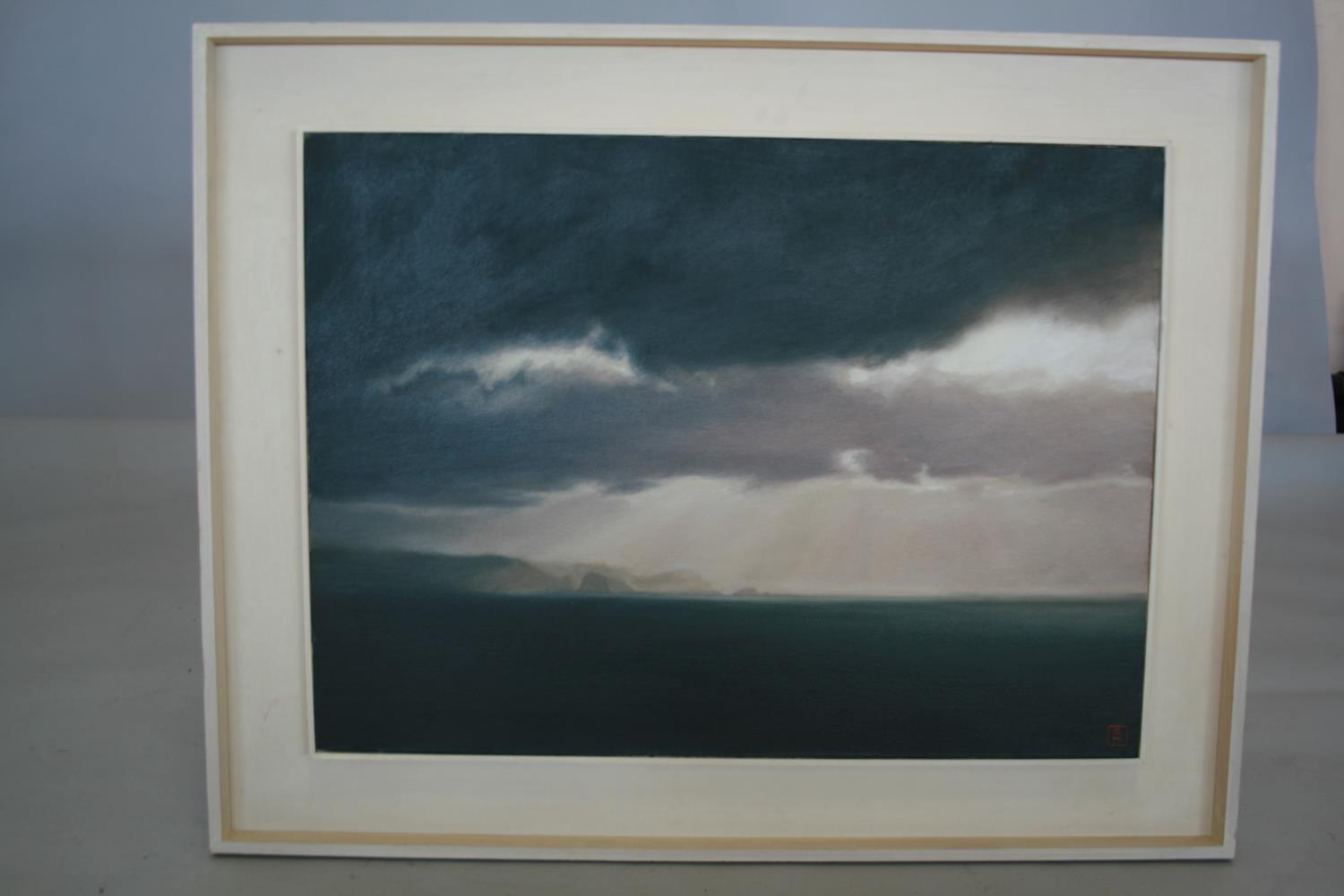 Guy Hanscomb 2004 oil on canvas - Slieve Tooey from Crohy. 78W x 57H