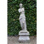 Moulded statue of Venus de Milo on matching base 50W 170H