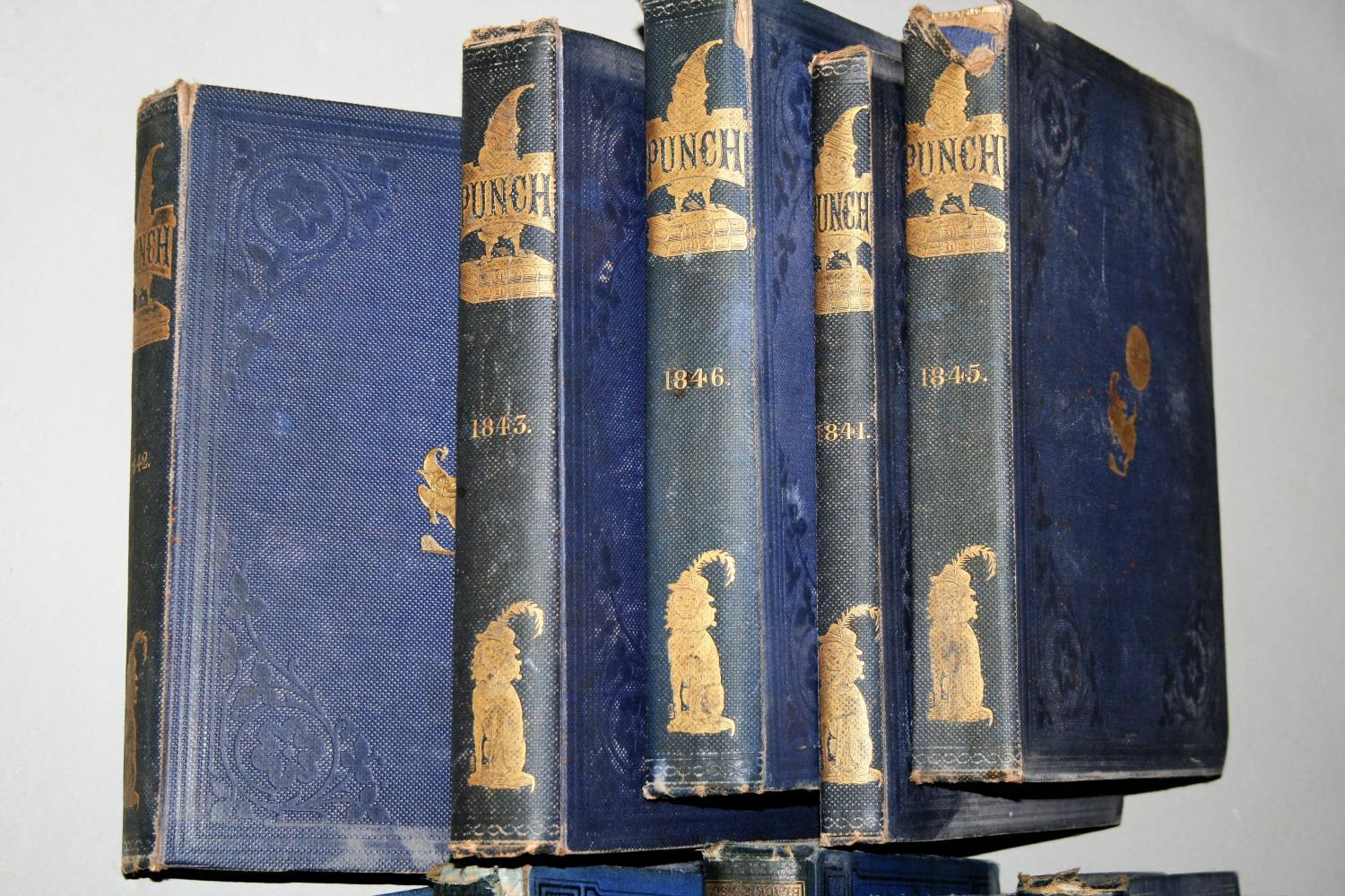 """Six volumes of """"The Popular Encyclopaedia"""" and five books """"Punch"""" 1841, 1842, 1843, 1845, 1846. - Image 3 of 4"""