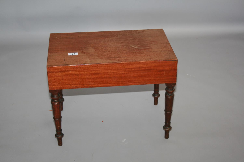 Fine original Regency mahogany commode, Gillington's of Dublin 60 W x 45 H x 37 D