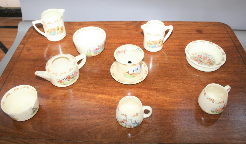 Royal Doulton part tea set, Bunnykins by Barbara Varvra
