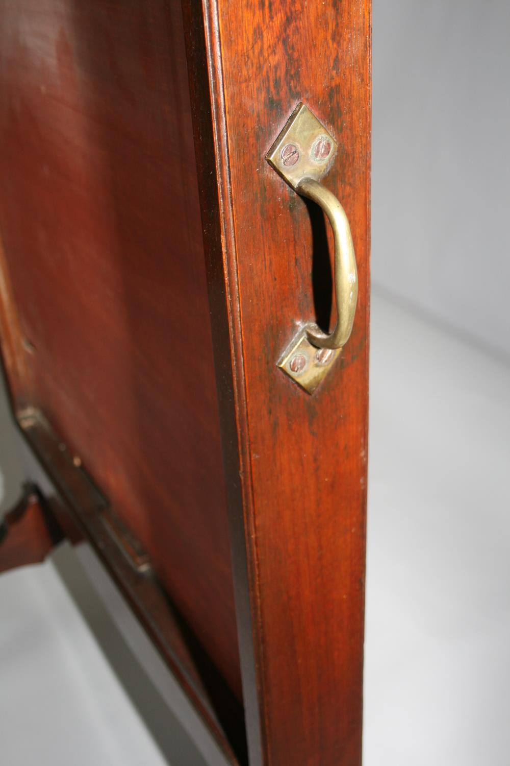 Georgian mahogany robing mirror with rise and fall action with brass carrying handle. Jackson of - Image 3 of 4