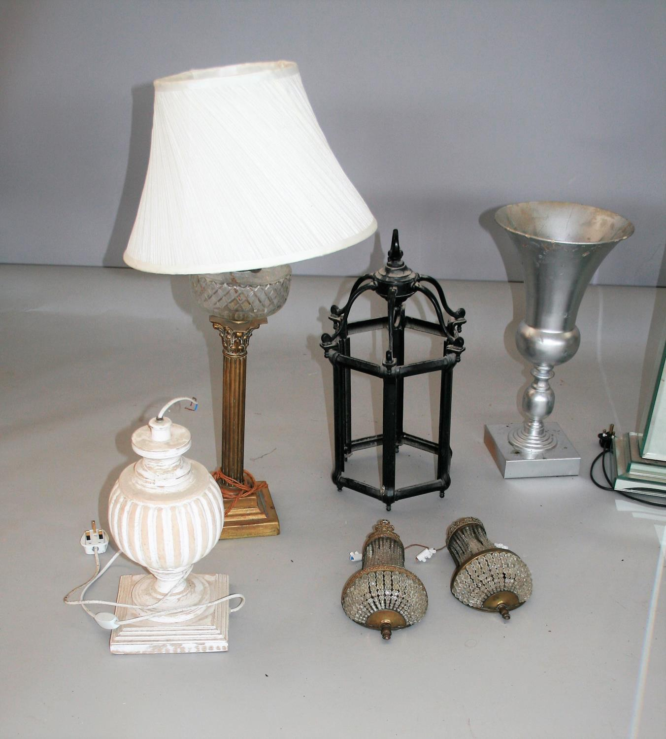 Misc. collection of antique lamps etc. - Image 4 of 5