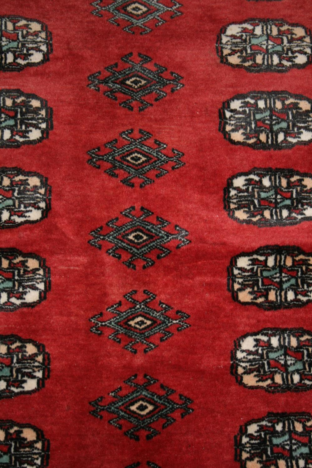 Persian design runner of rust coloured background. 210W x 130H - Image 3 of 3