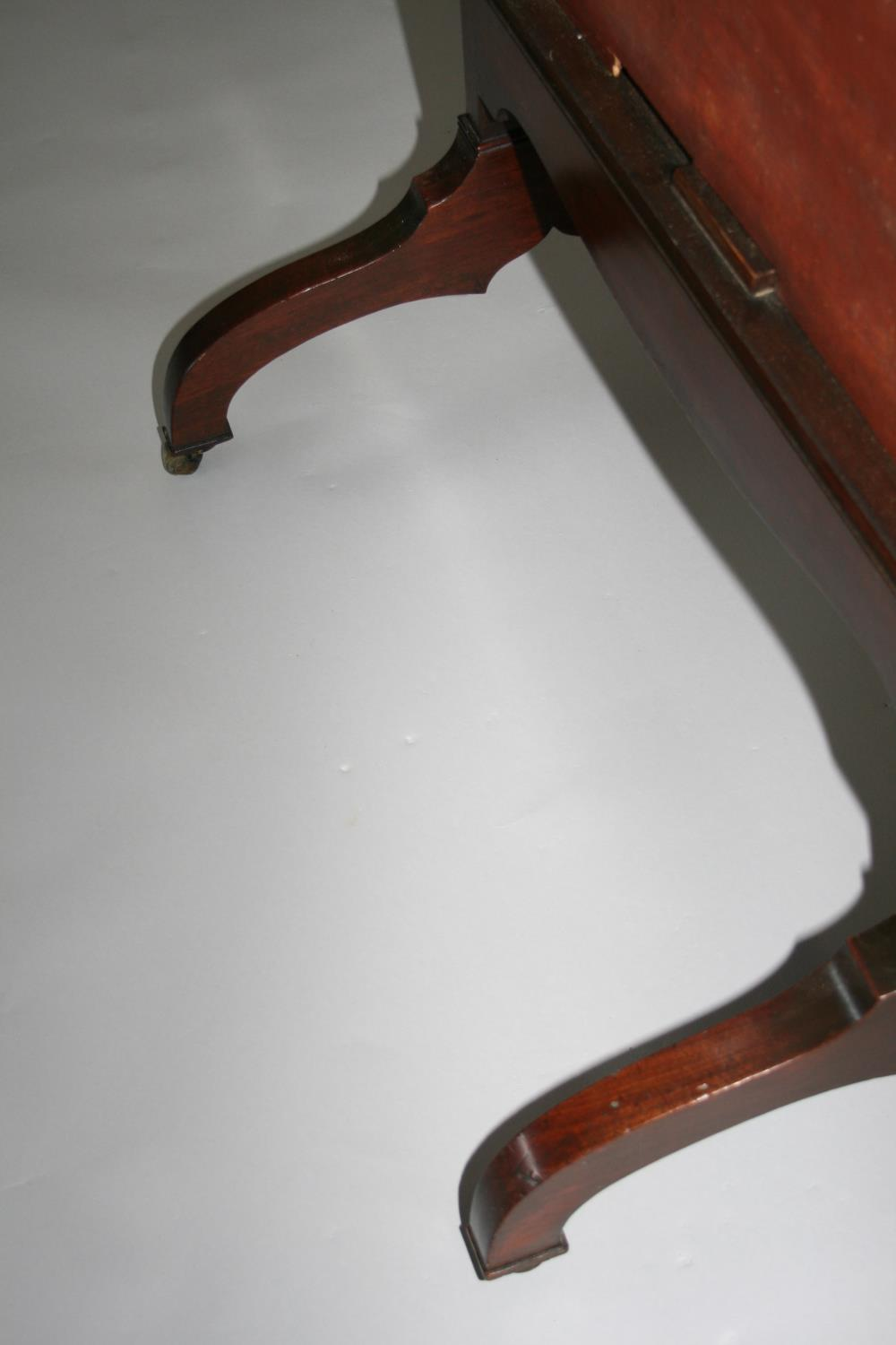 Georgian mahogany robing mirror with rise and fall action with brass carrying handle. Jackson of - Image 4 of 4