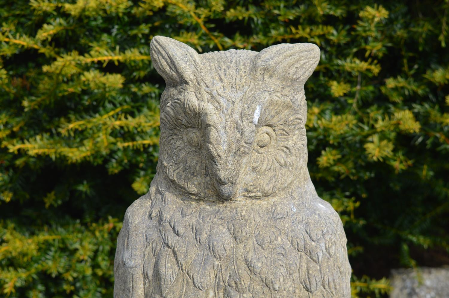 Stone model of an owl 30W 70H - Image 2 of 2